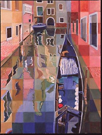 """""""Gondola from a Venetian Bridge"""", oil, 2003, 48""""x 36"""""""